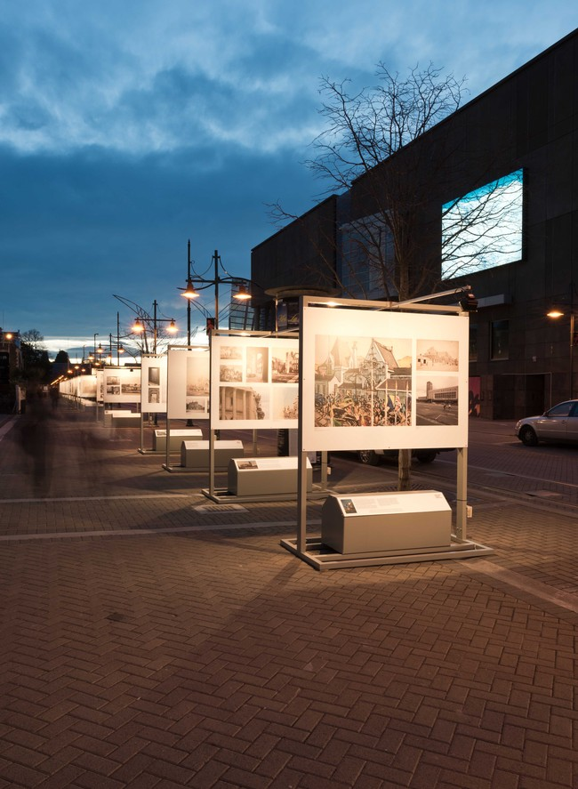 Installation view of Reconstruction: Conversations on a City in 2012