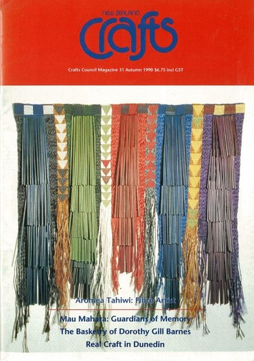 New Zealand Crafts issue 31, Autumn 1990