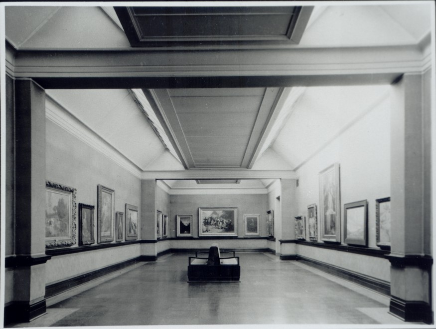 Interior view of the Robert McDougall Art Gallery.