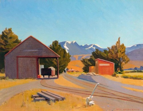 Rata Lovell-Smith Hawkins 1933. Oil on canvas board. Collection of Christchurch Art Gallery Te Puna o Waiwhetū, purchased 1981