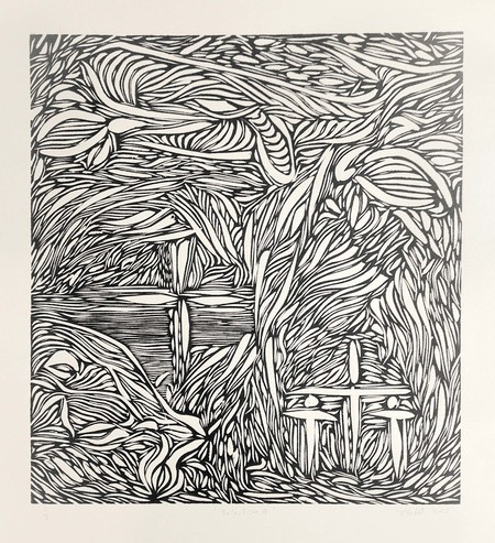 Josh Bashford Selection 3 2015. Woodcut on paper. Reproduced with permission, image courtesy of the artist