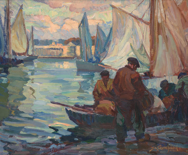 Harbour Scene, Evening, Concarneau [also known as Fishing Boats, Concarneau]