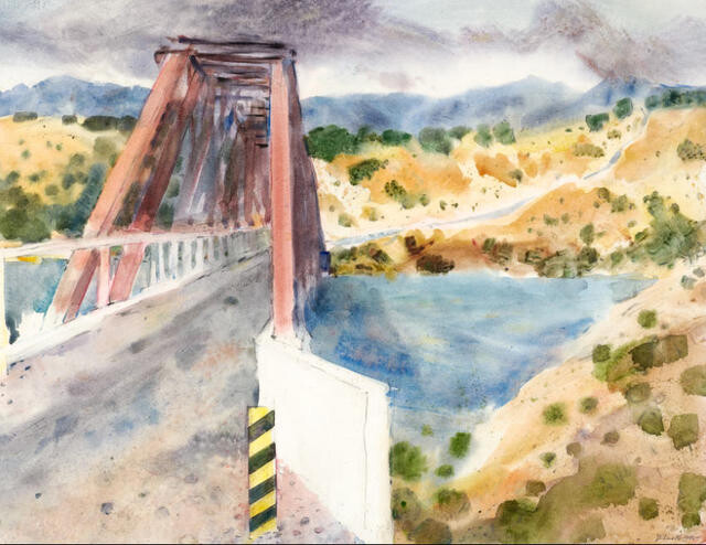 Study Of The Bridge, Clutha River
