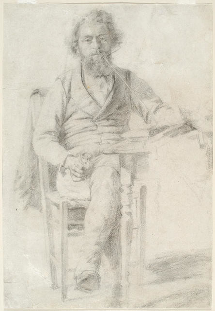 Study of Man Seated