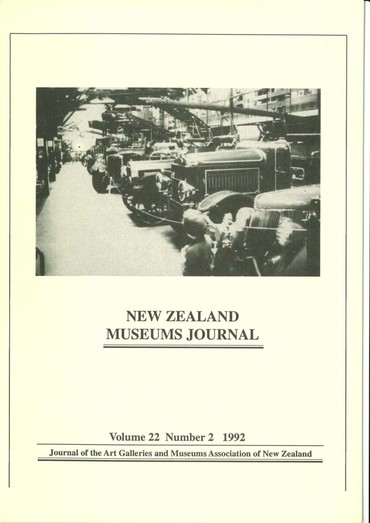 NZMJ Volume 22 Number 2 Summer 1992