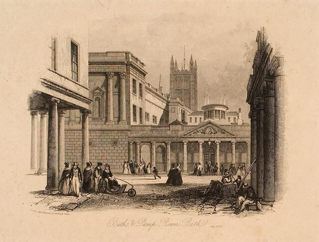 Baths & Pump Room. Bath, May 4, 1841.