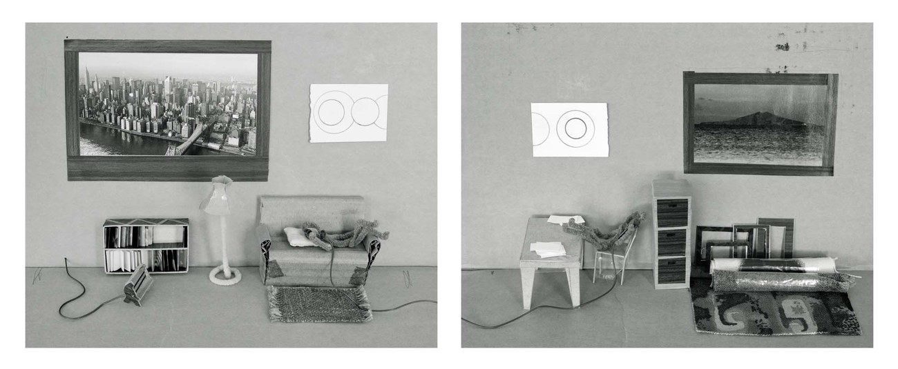 Marie Shannon Phone Friends 1990. Silver gelatin print (diptych). Collection of the artist