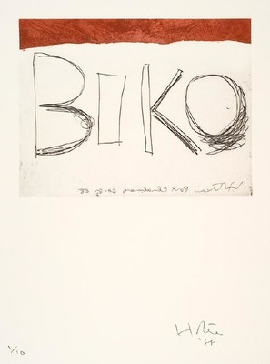 Ralph Hotere Biko 1988. Etching. Reproduced courtesy of Ralph Hotere