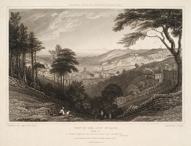 View Of The City Of Bath From S.E.