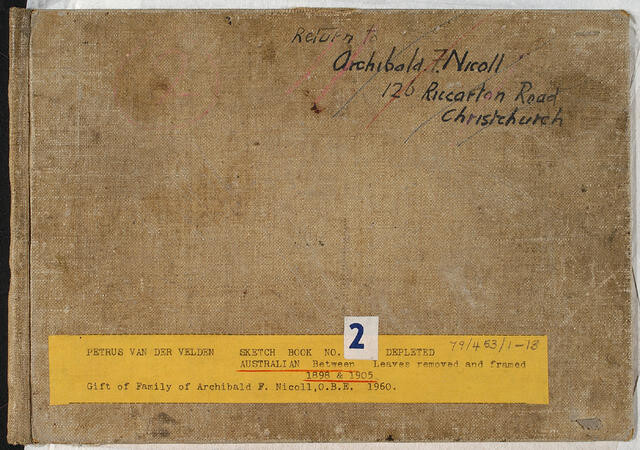 Untitled (Sketch Book 2 - Australia (1898 & 1905)