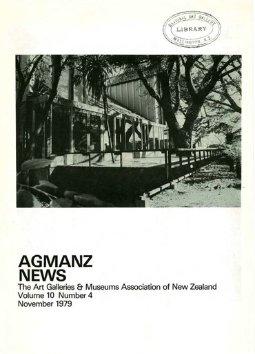AGMANZ Volume 10 Number 4 November 1979