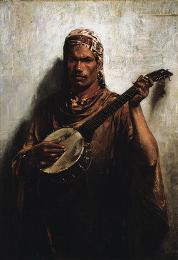 The Satara Player by Petrus van der Velden