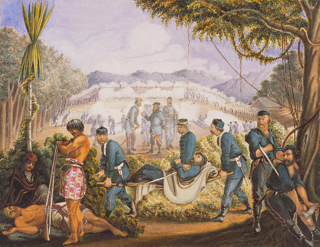 Storming Of Otapawa Pa (Also Known As An Incident In The NZ Wars)