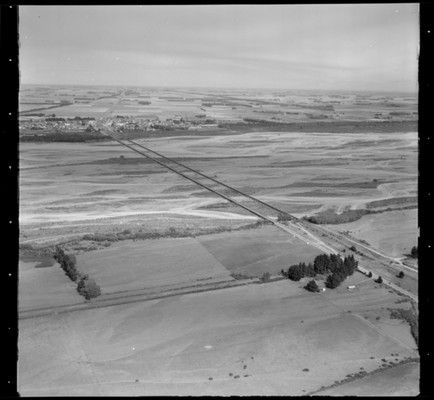 Aerial view of the Canterbury Plains and Rakaia River. Whites Aviation Ltd: Photographs. Ref: WA-49562-F. Alexander Turnbull Library, Wellington, New Zealand http://natlib.govt.nz/records/22701550
