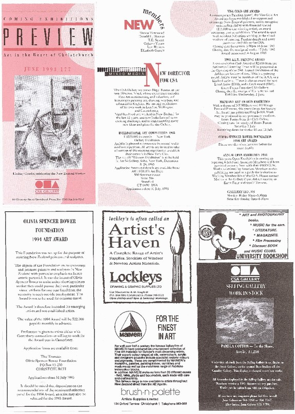 Canterbury Society of Arts Preview, number 177, June 1993
