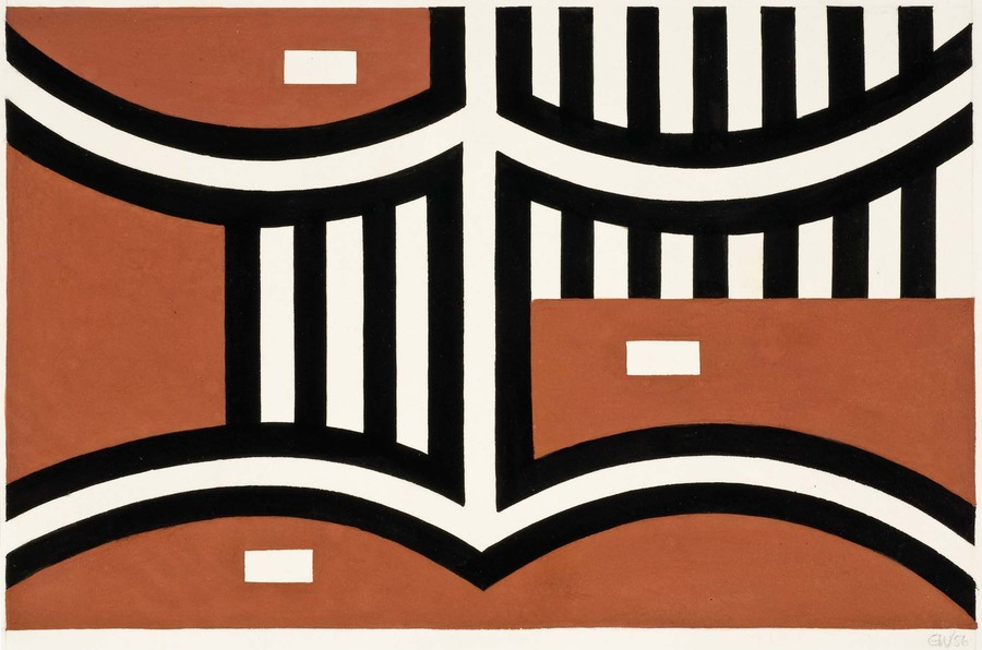 Gordon Walters Untitled 1956. Gouache on paper. Collection of Christchurch Art Gallery Te Puna o Waiwhetū, purchased with the assistance of the W.A. Sutton Trust 2010. Reproduced courtesy of the Gordon Walters Estate