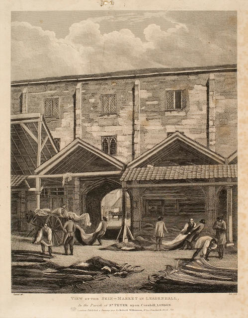 View Of The Skin Market In Leadenhall In The Parish Of St Peter Upon Cornhill, London