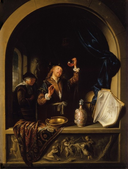 Gerrit Dou The Physician 1653. Oil on copper. Collection of Christchurch Art Gallery Te Puna o Waiwhetū, Heathcote Helmore Bequest 1965