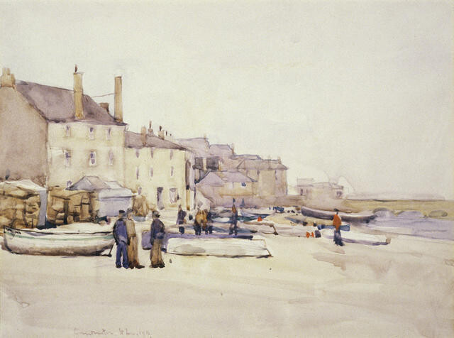 The Beach, St Ives, Cornwall, 1910