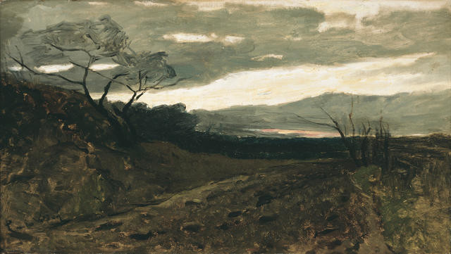 Canterbury landscape with a nor'west sky