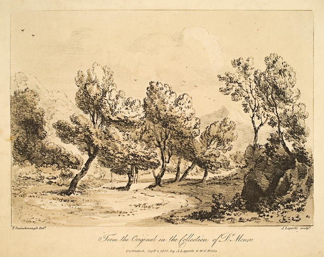 Landscape With Trees (From The Original In The Collection Of Dr Monro)