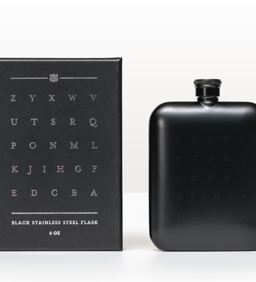 ZYX Flask (6 Oz: Black)
