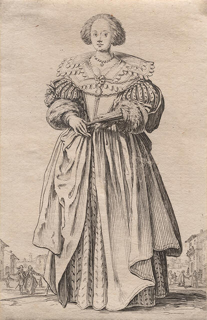 La Dame à l'Eventail (The Lady with a Fan), from La Noblesse de Lorraine (The Nobility of Lorraine)