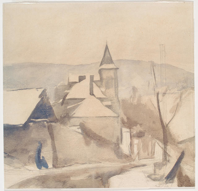 Convent in the snow, Murat, 1926