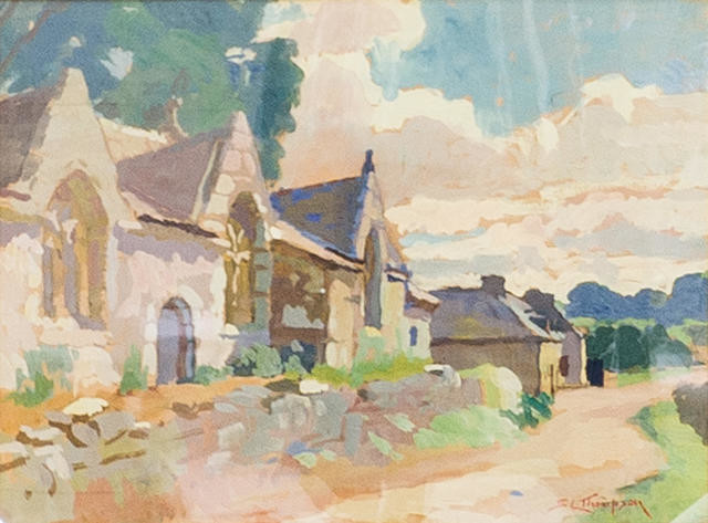 The Road Past The Chapel, Locmaria, Hent, Brittany