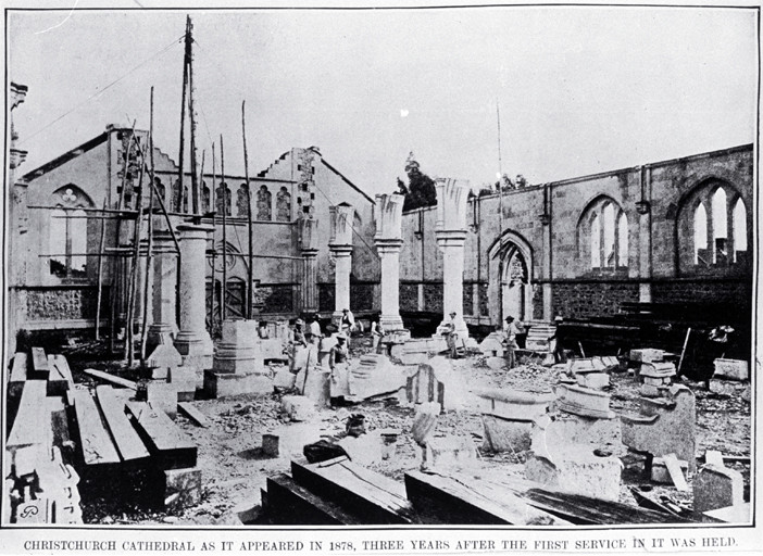 Christchurch Cathedral in 1878...