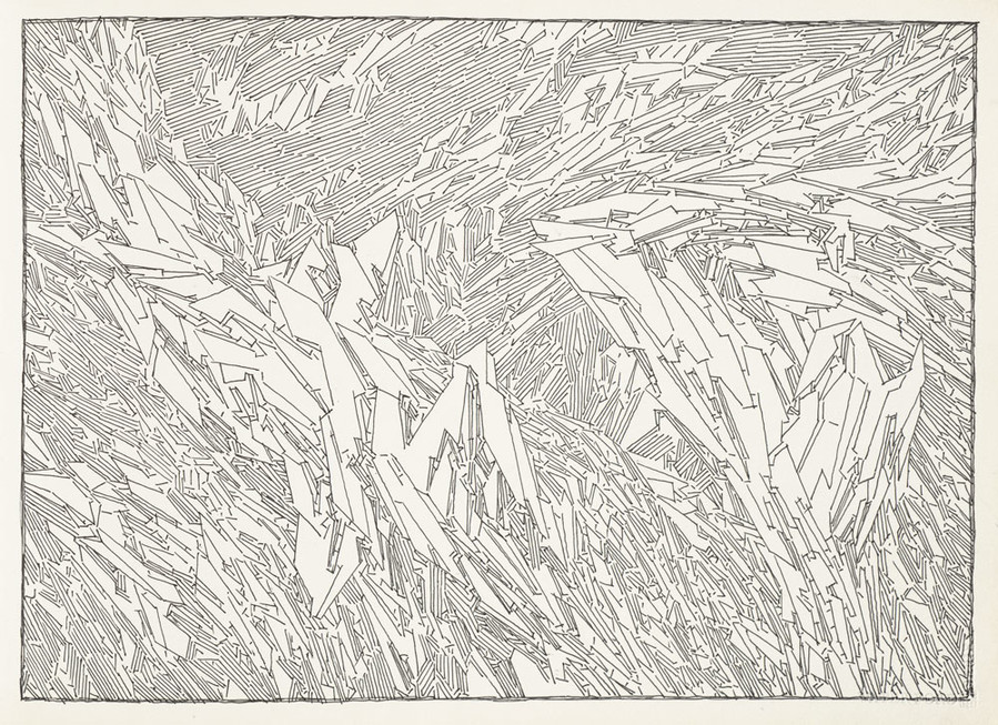 Lebbeus Woods Sketchbook (30 July 1995, NYC - 23 May 1998, NYC) 1995. Ink on paper. Collection SFMOMA, Accessions Committee Fund purchase. © Estate of Lebbeus Woods