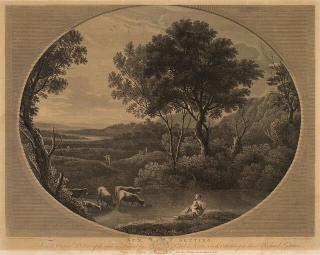 Sun Setting. From The Original Picture Of The Same Size, Painted By Claude Le Lorrain In The Collection Of The Late Sir Richard Lyttelton