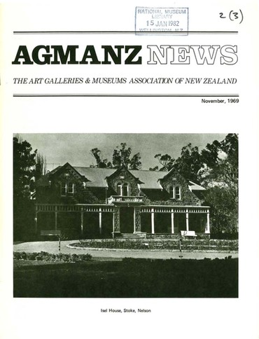 AGMANZ News Volume 2 Number 3 November 1969