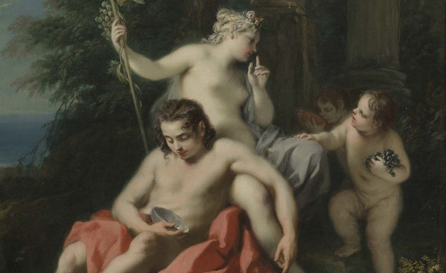 Jacopo Amigoni Bacchus and Ariadne (detail) 1730–9. Oil on canvas. Collection of Christchurch Art Gallery Te Puna o Waiwhetū, presented to the Canterbury Society of Arts by the Neave family in memory of their brother Kenelm, 1931; given to the Robert McDougall Art Gallery 1932