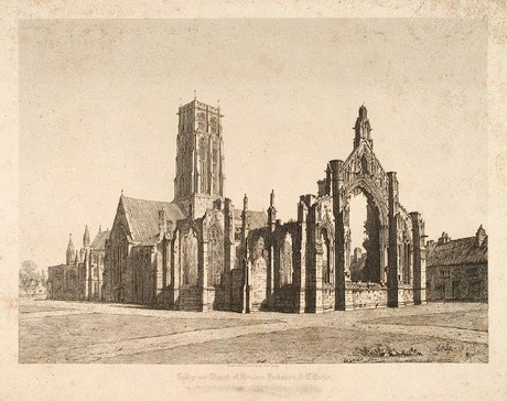 John Coney Collegiate Church Of Howden Yorkshire (S.E. View). Engraving. Colelction of Christchurch Art Gallery Te Puna o Waiwhetū; Sir Joseph Kinsey bequest