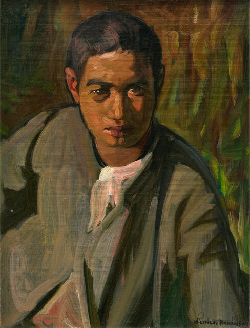 Portrait of a Maori boy
