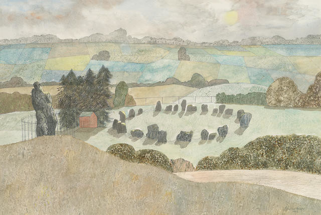 Untitled (Landscape with a circle of ancient standing stones)