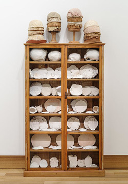 Body parts: White china cupboard by Christine Hellyar