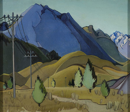 Louise Henderson Plain and Hills 1936. Oil on canvas. Collection of Christchurch Art Gallery Te Puna o Waiwhetū, purchased 2003