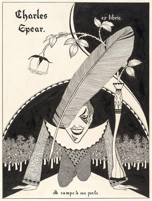 Bookplate design for Charles Spear