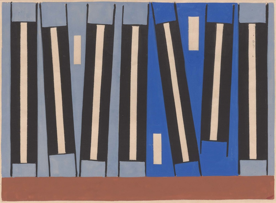 Gordon Walters Untitled 1955. Gouache. Collection of Christchurch Art Gallery Te Puna o Waiwhetū, purchased 2015. Reproduced courtesy of the Gordon Walters Estate
