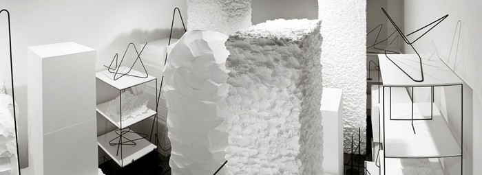 Peter Robinson Cache 2011. Polystyrene, steel. Courtesy the artist and Sue Crockford Gallery, Auckland