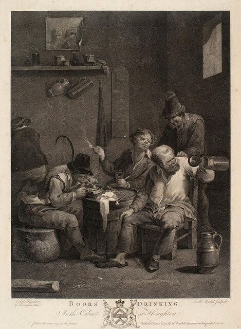 Boors Drinking (In The Cabinet At Houghton)