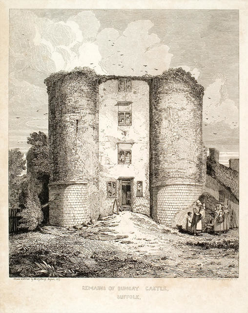 Remains of Bungay Castle, Suffolk