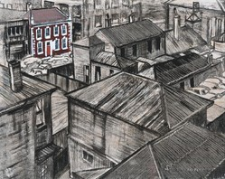 Rooftops, backyards, urban scapes