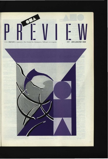 Canterbury Society of Arts Preview, number 137, December/January/February 1987/8