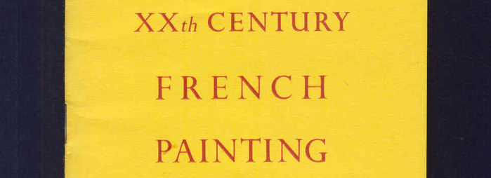 XXth Century French Painting, catalogue cover detail