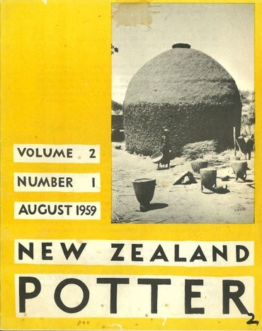 New Zealand Potter volume 2 number 1, August 1959