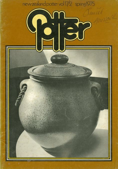 New Zealand Potter volume 17 number 2, Spring 1975