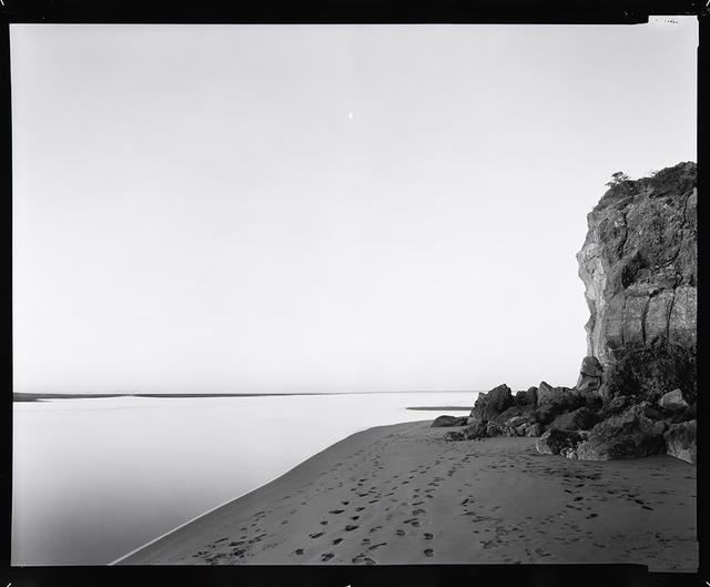 Rapanui [Shag Rock], Opawaho/Heathcote and Otakaro/Avon River Estuary, severely damaged in the earthquake of 22 Feb 2011. Photograph taken 25 August 1988, printed 2011.